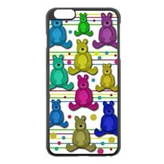 Teddy Bear Apple Iphone 6 Plus/6s Plus Black Enamel Case