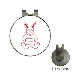 Cute Rabbit With I M So Cute Text Banner Hat Clips With Golf Markers by dflcprints