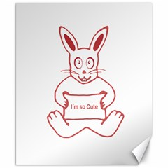 Cute Rabbit With I M So Cute Text Banner Canvas 8  X 10  by dflcprints