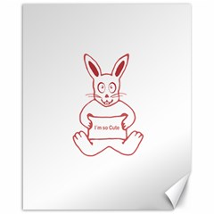Cute Rabbit With I M So Cute Text Banner Canvas 16  X 20   by dflcprints