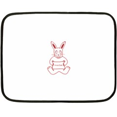 Cute Rabbit With I M So Cute Text Banner Double Sided Fleece Blanket (mini)  by dflcprints