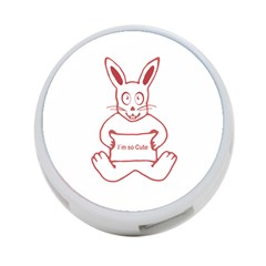 Cute Rabbit With I M So Cute Text Banner 4 Port Usb Hub (one Side) by dflcprints
