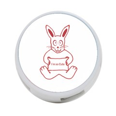 Cute Rabbit With I M So Cute Text Banner 4 Port Usb Hub (two Sides)  by dflcprints