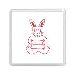 Cute Rabbit With I M So Cute Text Banner Memory Card Reader (square)  by dflcprints
