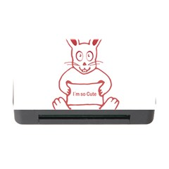 Cute Rabbit With I M So Cute Text Banner Memory Card Reader With Cf by dflcprints