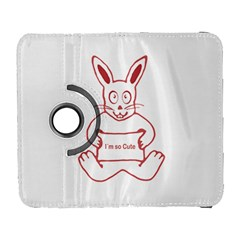 Cute Rabbit With I M So Cute Text Banner Galaxy S3 (flip/folio) by dflcprints