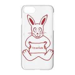 Cute Rabbit With I M So Cute Text Banner Apple Iphone 7 Hardshell Case by dflcprints