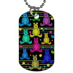 Teddy Bear 2 Dog Tag (two Sides) by Valentinaart