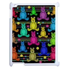 Teddy Bear 2 Apple Ipad 2 Case (white) by Valentinaart