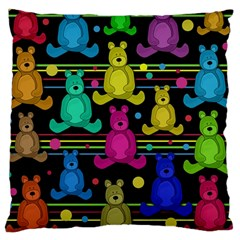 Teddy Bear 2 Large Cushion Case (two Sides) by Valentinaart