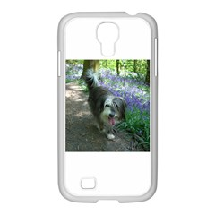 Bearded Collie Walking Samsung Galaxy S4 I9500/ I9505 Case (white) by TailWags