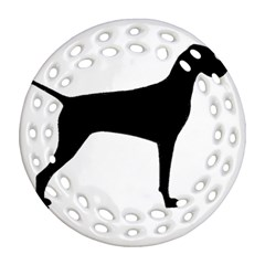 Vizsla Silo Black Ornament (Round Filigree)  by TailWags