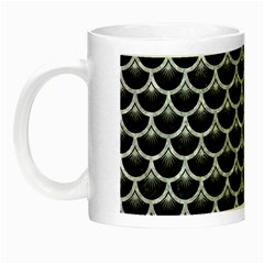 Scales3 Black Marble & Gray Marble Night Luminous Mug by trendistuff