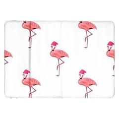 Flamingos Pink Santa Claus Tropical Coastal Christmas Samsung Galaxy Tab 8 9  P7300 Flip Case by CrypticFragmentsColors
