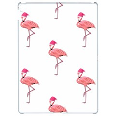 Flamingos Pink Santa Claus Tropical Coastal Christmas Apple Ipad Pro 12 9   Hardshell Case