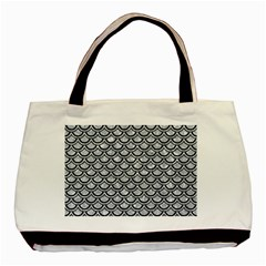 SCA2 BK-GY MARBLE (R) Basic Tote Bag (Two Sides) by trendistuff