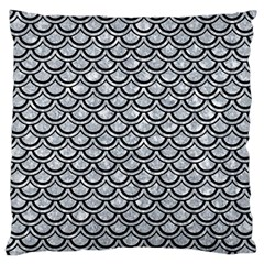 Scales2 Black Marble & Gray Marble (r) Large Flano Cushion Case (one Side) by trendistuff