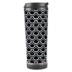 Scales2 Black Marble & Gray Marble Travel Tumbler by trendistuff
