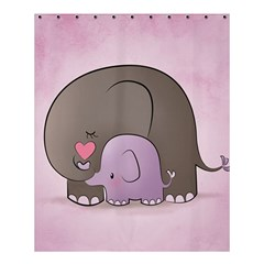 Cute Elephant Shower Curtain 60  X 72  (medium)  by AnjaniArt