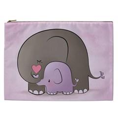 Cute Elephant Cosmetic Bag (xxl)  by AnjaniArt