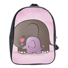 Cute Elephant School Bags (xl)  by AnjaniArt
