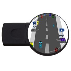 Highway Usb Flash Drive Round (4 Gb)  by AnjaniArt