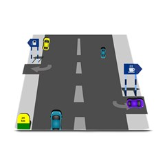 Highway Plate Mats by AnjaniArt