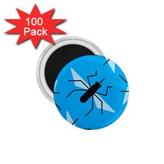 Mosquito Blue Black 1 75  Magnets (100 Pack)  by AnjaniArt