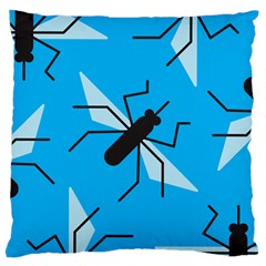 Mosquito Blue Black Standard Flano Cushion Case (One Side) by AnjaniArt