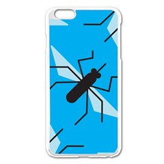 Mosquito Blue Black Apple Iphone 6 Plus/6s Plus Enamel White Case by AnjaniArt
