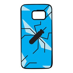 Mosquito Blue Black Samsung Galaxy S7 Black Seamless Case