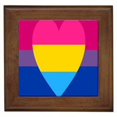 Panromantic Flags Love Framed Tiles by AnjaniArt