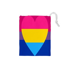 Panromantic Flags Love Drawstring Pouches (small)