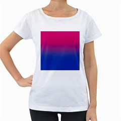 Pink Blue Purple Women s Loose Fit T Shirt (white) by AnjaniArt