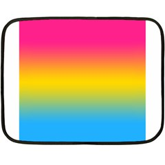 Pink Orange Green Blue Fleece Blanket (mini) by AnjaniArt