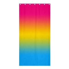 Pink Orange Green Blue Shower Curtain 36  X 72  (stall)  by AnjaniArt