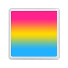 Pink Orange Green Blue Memory Card Reader (square)  by AnjaniArt