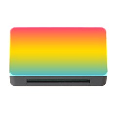 Pink Orange Green Blue Memory Card Reader With Cf by AnjaniArt