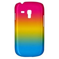 Pink Orange Green Blue Galaxy S3 Mini by AnjaniArt
