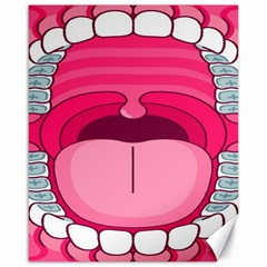 Original Big Mouth Canvas 16  X 20   by AnjaniArt