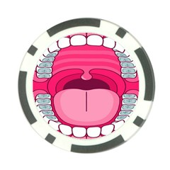 Original Big Mouth Poker Chip Card Guards by AnjaniArt