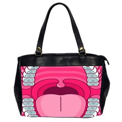 Original Big Mouth Office Handbags (2 Sides)  by AnjaniArt