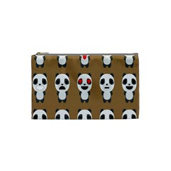 Panda Emoticon Cosmetic Bag (small)  by AnjaniArt