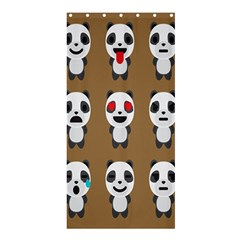 Panda Emoticon Shower Curtain 36  X 72  (stall)  by AnjaniArt