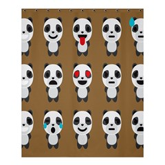 Panda Emoticon Shower Curtain 60  X 72  (medium)  by AnjaniArt