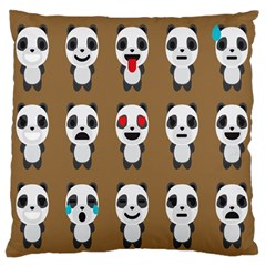 Panda Emoticon Standard Flano Cushion Case (One Side) by AnjaniArt