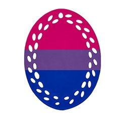 Pink Purple Blue Flag Ornament (oval Filigree)  by AnjaniArt