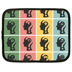 Question Face Think Netbook Case (xxl)  by AnjaniArt