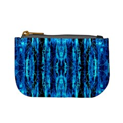 Bright Blue Turquoise  Black Pattern Mini Coin Purses by Costasonlineshop