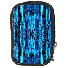 Bright Blue Turquoise  Black Pattern Compact Camera Cases